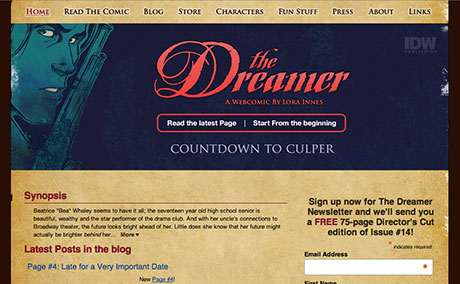 The Dreamer Logo and Website